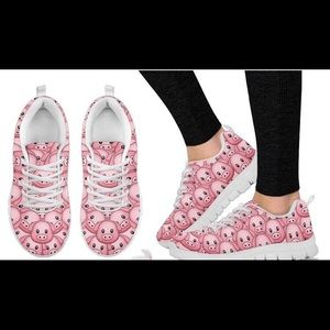 Shoes - Women's Piggy Print Tennis Shies, Sz 9, NWOT